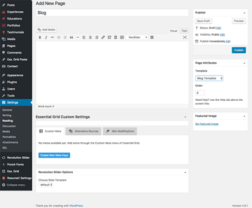 Add blog page to your WordPress resume website