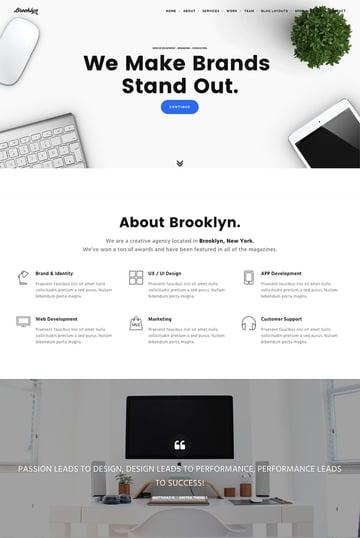 Brooklyn A Creative WordPress Agency Theme Design