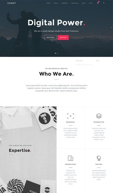 Comet Responsive Agency WordPress Theme