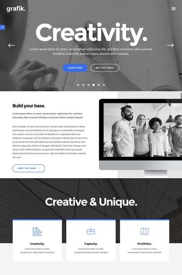 Grafik WordPress Agency Theme for Portfolio Layouts