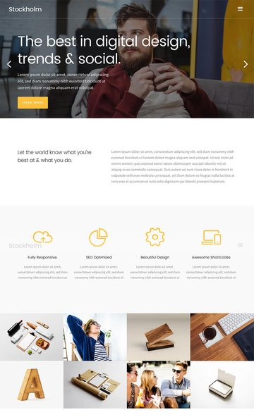 Stockholm Creative Agency WordPress Design Theme