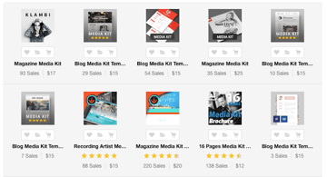 Best Media Kit Template Designs on GraphicRiver