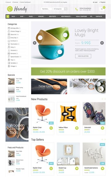 Handy Stylish eCommerce WordPress Shop Theme