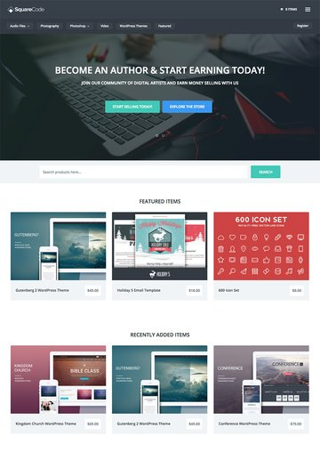 SquareCode Marketplace Theme for Easy Digital Downloads