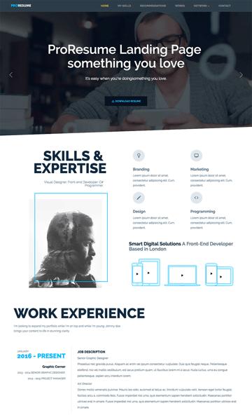 ProResume Professional HTML ResumeCV Site Template