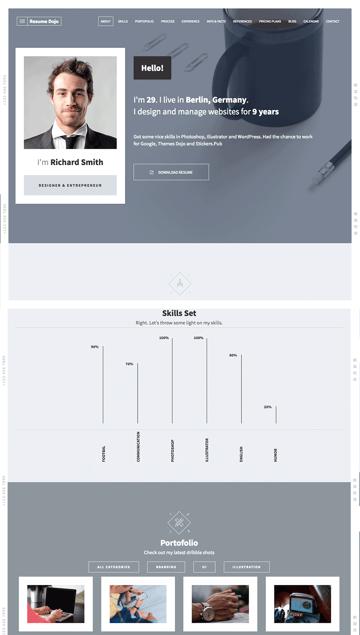 Resume Dojo Feature-Rich HTML Website Template