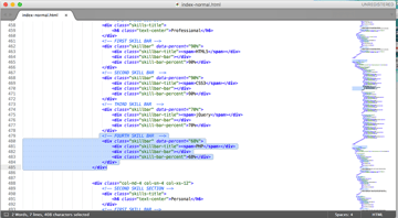 You can duplicate sections of HTML if you need to