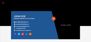 The results of apply the blue stylesheet