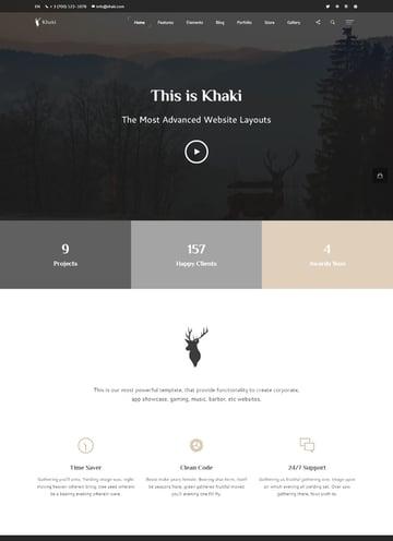 Khaki - Multipurpose Single Page Website Template