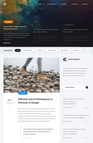 Onyx Best Personal WordPress Blog Theme 2017