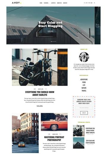The Blogger Personal WordPress Blog Theme