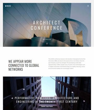 Mikos WordPress website parallax one page theme