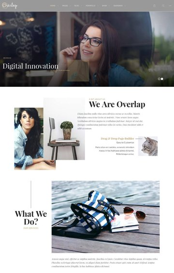 Overlap one-page parallax website theme for WordPress