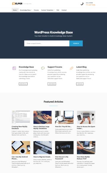 Helper Knowledge-Base WordPress theme
