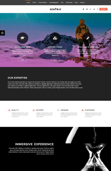 Sentric Knwoeldge-Base WordPress Wiki-Style Theme