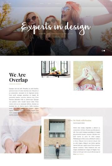Overlap clean WordPress theme for minimal website design