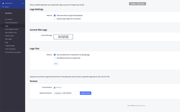 Configuring your custom logo