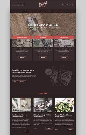 Linguini Versatile Restaurant WordPress Theme Design