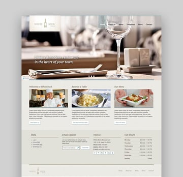 White Rock Easy Restaurant and Winery WP Theme