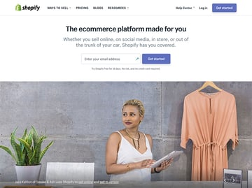 Shopify eCommerce platform