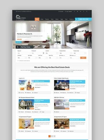 Real - Limpio tema WordPress de inmobiliaria para agentes inmobiliarios