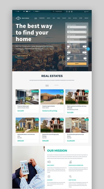 RealtySpace Professional real estate theme for WordPress