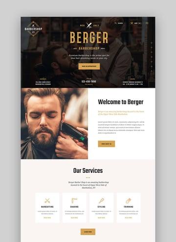 Berger Barber Shop WordPress Salon Theme