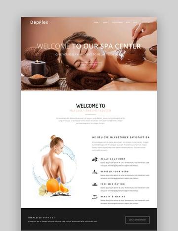 Depilex Salon WordPress Theme for Spa Making Websites