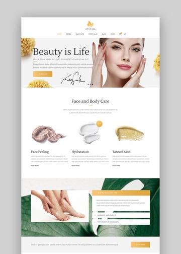 Kendall Spa and Beauty Salon WordPress Theme