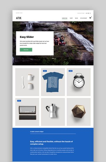 Atik Simple WordPress Theme For Your Online Store