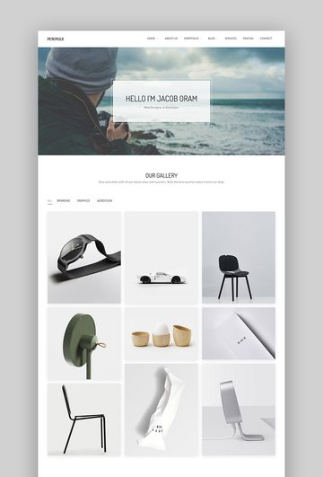 Minimax - Simple Minimal WordPress Portfolio Theme