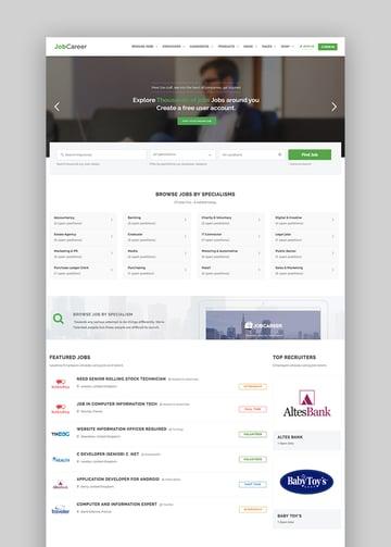 Job Board Responsive WordPress Theme