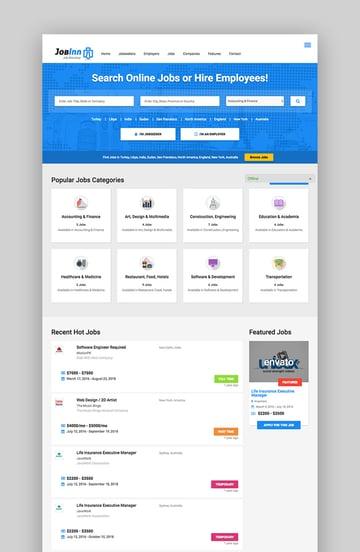 JobInn Job Board Directory WordPress Theme