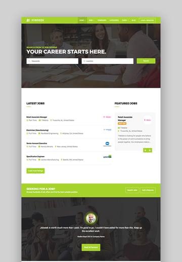 Jobseek - Agency Job Board WordPress Theme