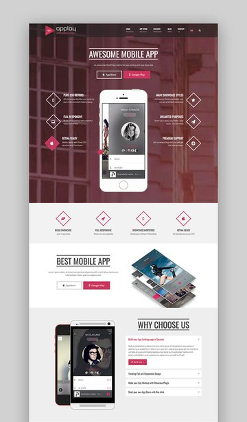 Applay WordPress mobile app and store theme
