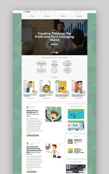 Guru Blog professional coaching WordPress theme
