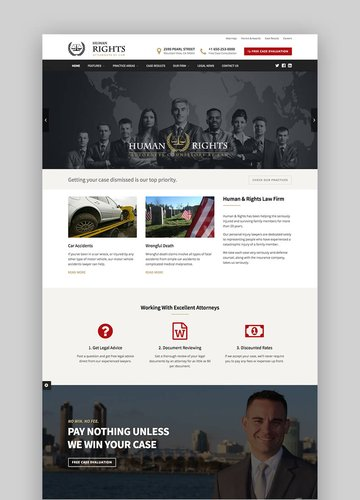 HumanRights lawyer attorney wordpress theme