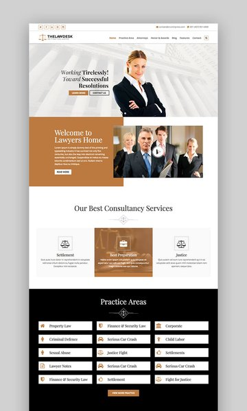 Law Desk theme for WordPress