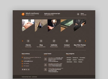 Themis legal business WordPress theme