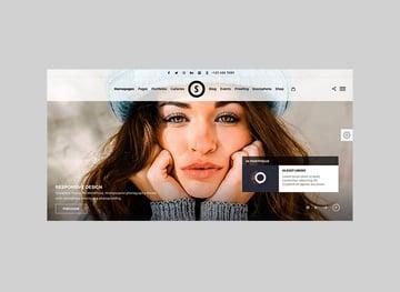 SceneOne Bright Full-Screen Website WordPress Theme
