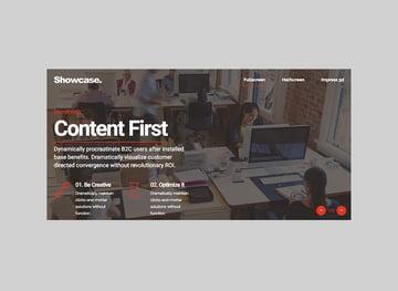 Showcase WordPress Multipurpose Full-Screen template