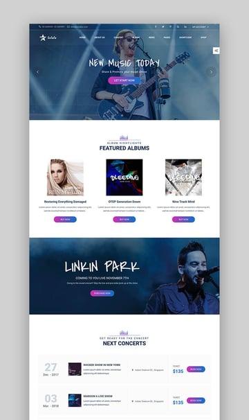Solala WordPress Feature Rich Music Theme