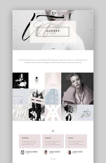 Audrey Fashion designer WordPress theme