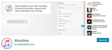 Musicbox WordPress plugin