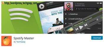 Spotify WordPress plugin