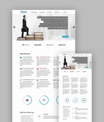 Striking feature-rich latest responsive WP theme