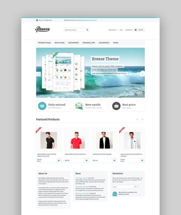 Breeze WooCommerce theme
