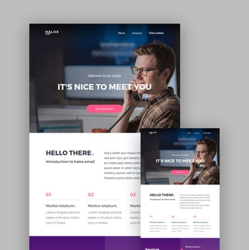 Halox email template