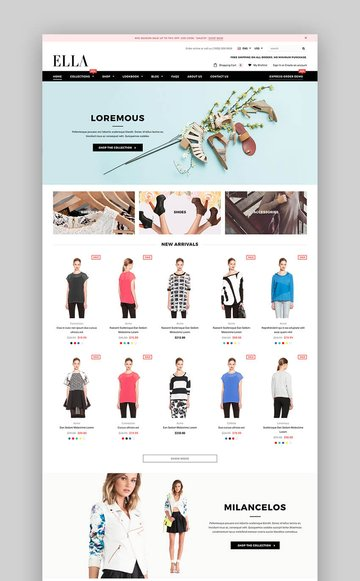 Ella Shopify Theme for fashion