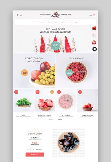 Foodly Shopify Theme